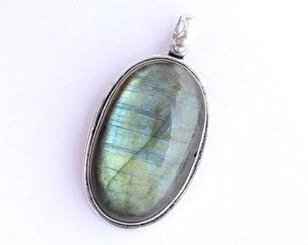 TRULY ELVISH labradorite pendant necklace silver labradorite necklace celtic jewelry, 4
