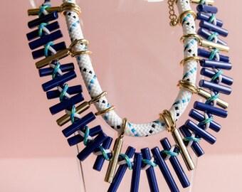 Geometric Acrylic Choker Statement Necklace - Free Shipping!