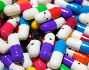 Secret message Happy pills Fake Kawaii Pills Wish Capsules