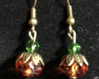Dangling Pumpkin Earrings