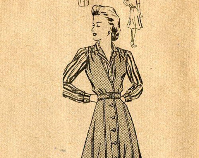 FREE US SHIP 1940's Mail Order 3505 Jumper Blouse Bust 32 Sewing Pattern