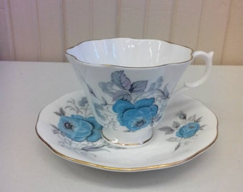 Teacup and saucer fine bone china by Queen Anne from England