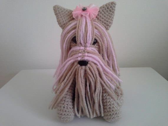 Free Amigurumi Yorkie Pattern : Yorkshire Terrier Dog Amigurumi Yorkie Handmade by MonoBlanco