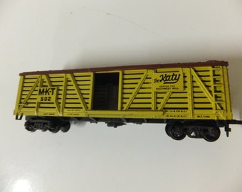 Vintage The Katy MKT 502 Gilbert American Flyer HO Scale Cattle Stock Car