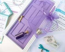 Purple Tooth Fairy Door Kit, Tooth Fairy Door, Purple Fairy Door, Tooth Fairy Receipts, Tooth Fairy, Purple Tooth Fairy, Girl Tooth Fairy