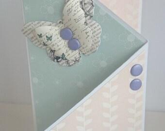 Butterfly Pastel Handmade Birthday Card