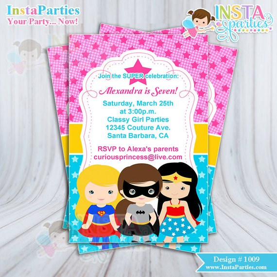 Superhero Party Invitation Wording as nice invitations layout