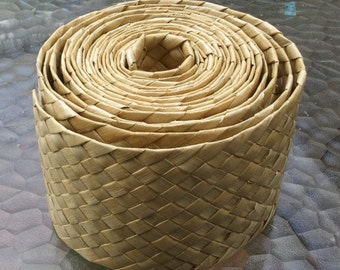 small Lauhala belt rolls