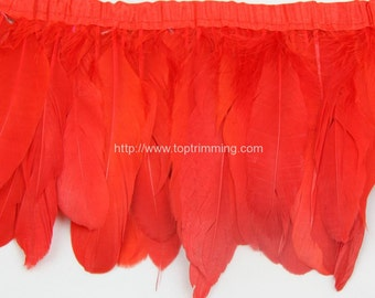 Duck duck goose  feather fringe (selling per yard)
