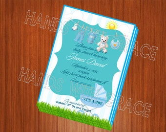 Printable custom invitation for It's a Boy