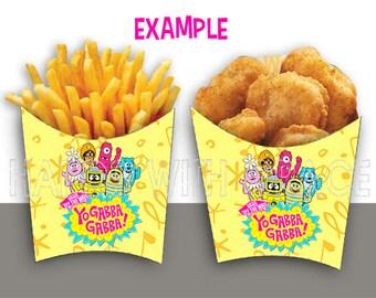 Boxes French fries Yo Gabba Gabba Printables