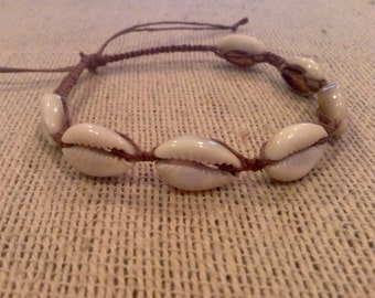 Cowrie Shell Anklet, Beachy Anklet, Beachy Hemp Jewelry, Shell Jewelry, Boho Anklet