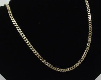 Gold curb chain L 51 cm gold chain SK530