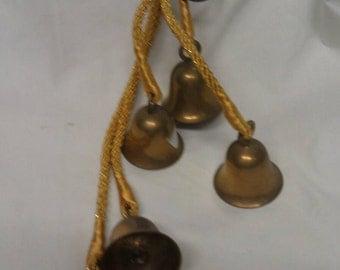 Brass Bells on Stringer for Hanging