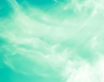 Nature photography, fine art photography, wall art, canvas prints, sky art, cloud art, turquoise, teal heavens fine art print nature prints
