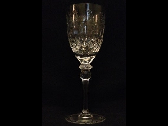 "FREE SHIPPING-Rogaska Gallia-Fantastic-Vintage-Lead Crystal-9 1/4""-Water/Wine Goblet"