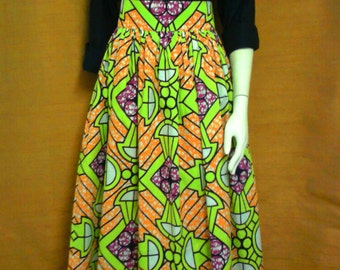 Alison Geometric Print African Wax Maxi Skirt,African Wax Maxi Skirt, Ethnic Print Long Skirt, Ankara Long Skirt  – Made to Order