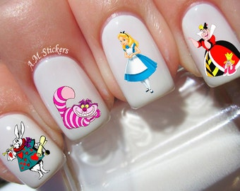 43 Alice in Wonderland Nail Decal