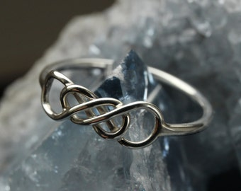Silver Celtic Infinity ring (Type II)