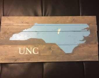 UNC Wood Sign
