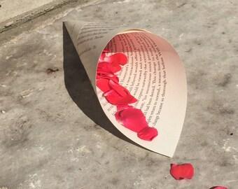 100- Book Page Cones