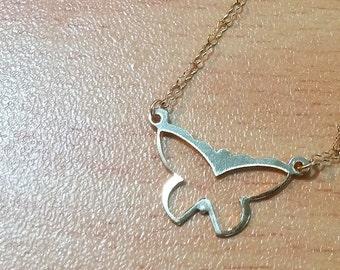 butterfly Necklace butterfly Bracelet Dainty Necklace Personalized Necklace High quality 14k Gold Filled tiny elegant Delicate Gold Necklace