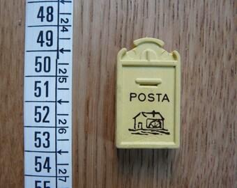 SALE! Cute Vintage Mail Box Rubber Eraser - Italy 80s Sorpresine del Mulino Bianco - Carinissima Gommina Cassetta delle Lettere
