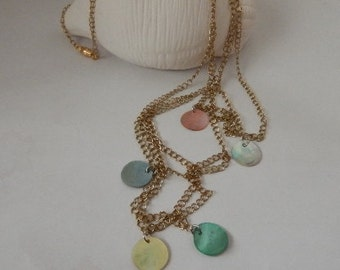 Antique gold plated chain necklace