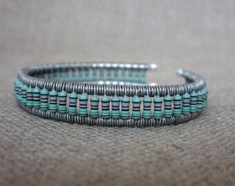 Mint Green Resistor Cuff Bracelet