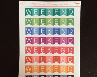 Weekend Banners - Planner Stickers