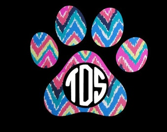 Monogram Paw Print Decals ~ Let the dog lover in you shine through!!