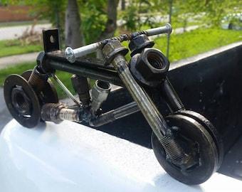 Upcycled Metal Welded Motorcycle