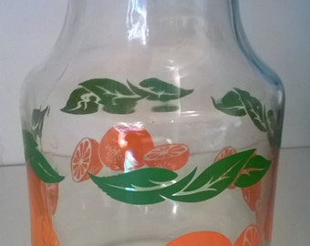Vintage Orange Juice Pitcher/Carafe