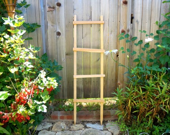 Decorative Ladder, Garden Trellis Pot Trellis Garden Ladder Planter Trellis Primitive Wooden Ladder Old Ladder Rustic Ladder Wooden Yard Art
