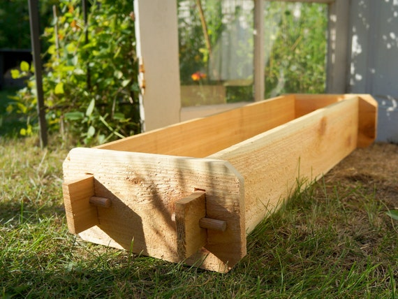 1x3 Cedar Flower Box Cedar Planter Vegetable Garden Box