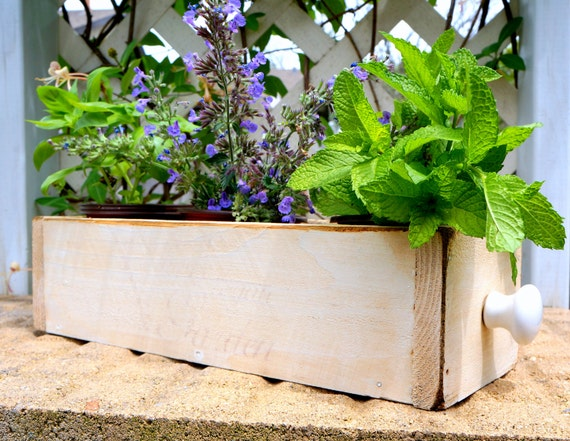 Window Box Cedar Herb Planter Box Indoor Planter Storage Box