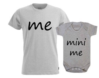 Me And Mini Me Matching Parent Child T Shirt
