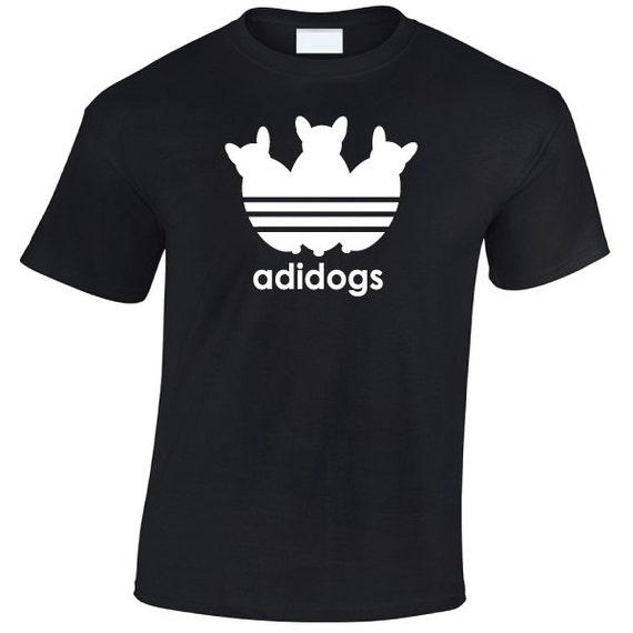 Adidogs adidas parody T-Shirt. animal pet Dog shirt. Shirt for guys and girls. Unisex adult tshirts for men and women