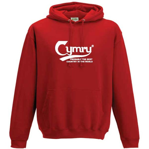 Cymru Wales Carlsberg Welsh Cymru funny parody Hooded Sweatshirt. Unisex Quality sweatshirt slogan slang holiday gift present