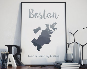 Boston Wall Art boston wall art | etsy