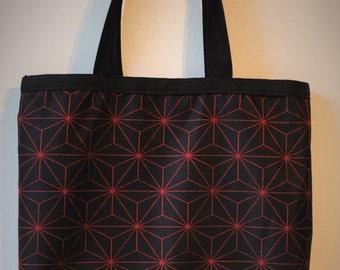 Black Asanoha Tote bag