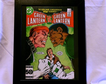 Green Lantern 197 Framed: Green Lantern VS Green Lantern