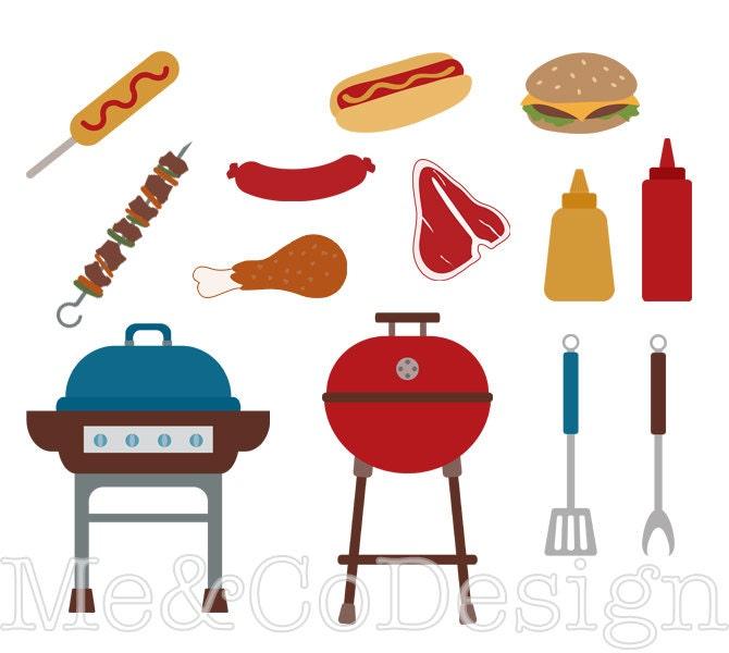 Barbecue clip art | Etsy