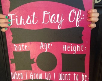 First Day of School chalk board sign