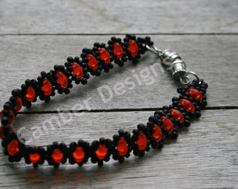 Cute Lil' Something Glass Bead Bracelet - Halloween