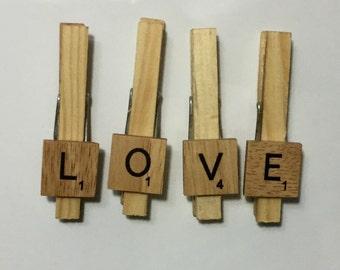 Peg Magnets - Scrabble Letters