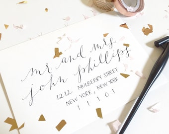 CHRISTINA Layout / Wedding Calligraphy Envelope Addressing / Hand Written / Tier 2 Layout