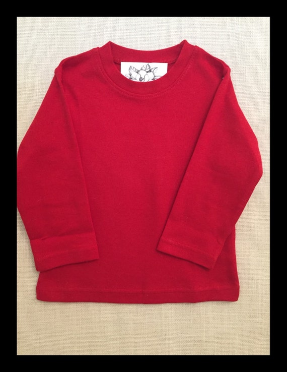 Boys Blank Boutique Quality Red Long Sleeve By