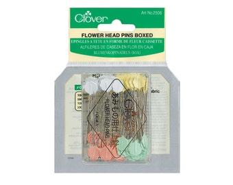Clover Flower Headed Pins x 100 Pins (CL2506)