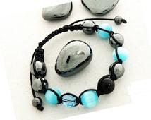 Buddha Shamballa Bracelet,Bracelet Shambala Jewelry,Faceted Hematite, Onyx Women,Cat's Eye 10mm,Macrame Stone Bracelet,Mens Bead Bracelet